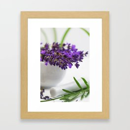 Creative lavender image for healing practice No.2 Framed Art Print