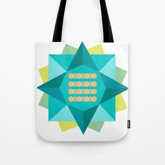 Abstract Lotus Flower - Yoga Print Tote Bag