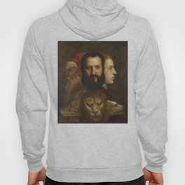 """Titian (Tiziano Vecelli) """"The Allegory of Age Governed by Prudence"""" Hoody"""