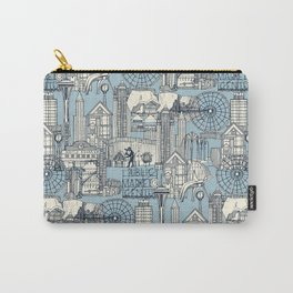 Seattle indigo pale chambray Carry-All Pouch