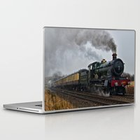 ashton irwin Laptop & iPad Skins featuring Rood Ashton Hall steam locomotive by PICSL8