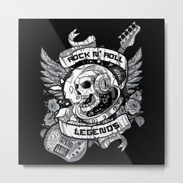 Skull Rock and Roll Metal Print