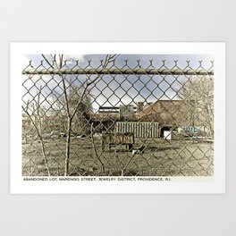 Providence Postcard Project: Abandoned Lot, Marengo Street, Jewelry District Art Print