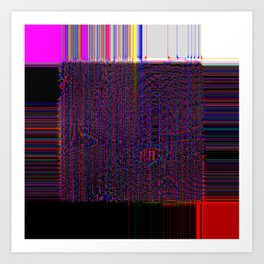 Loom - Experimental Glitch Tapestry Art Print