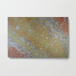 Custom Water Marbling -- Cosmos! Metal Print