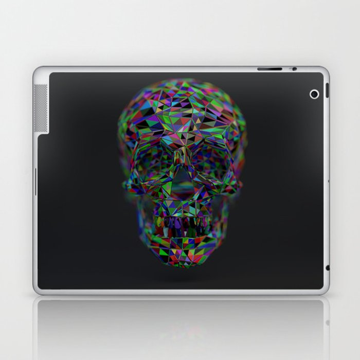 Skull Low-Poly Color Laptop & iPad Skin