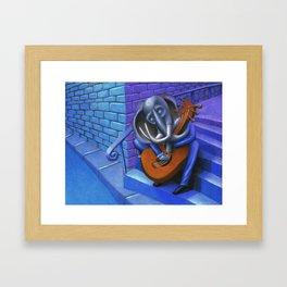 Too Close Blues Framed Art Print