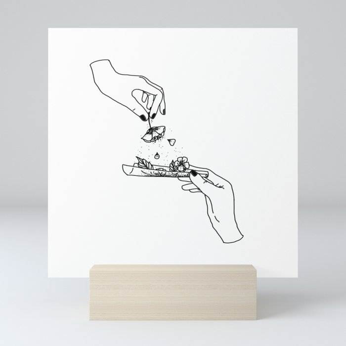How to roll up your sadness? Mini Art Print