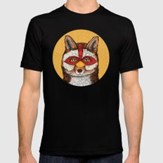 ChickenFox Black Mens Fitted Tee LARGE