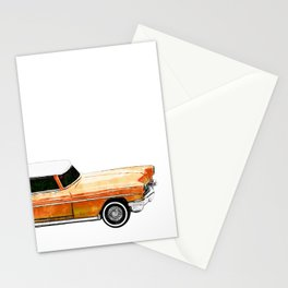 Orange Classic Car Stationery Cards
