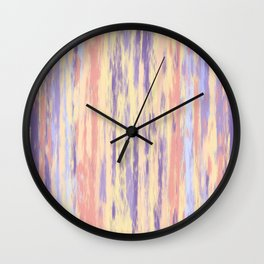 Vertical Stripes on Buttercream - from the Lilac Buttercup colour palette collection Wall Clock