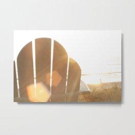 Beach Light Metal Print