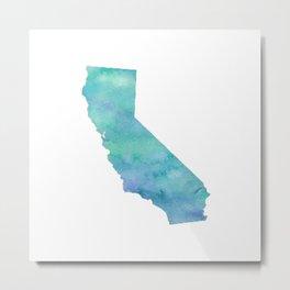 Watercolor California Metal Print