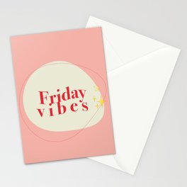 Friday Vibes Stationery Cards