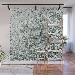 White Diamond Abstract Art Pattern 02 Wall Mural