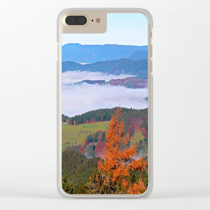 Misty Mountain Dreams Clear iPhone Case