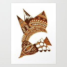 Sea Shell Creature 2 Art Print