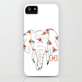96 Elephants iPhone Case