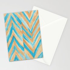 Beach Chevron Stationery Cards