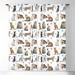 Various Cats Pattern Blackout Curtain