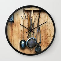 kitchen Wall Clocks featuring KITCHEN EQUIPMENT by CAPTAINSILVA