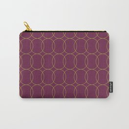 Fly Home Collection-  Circle Pattern Deep Red Violet  Carry-All Pouch