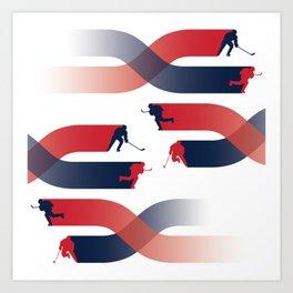 Capitals Breakaway Art Print