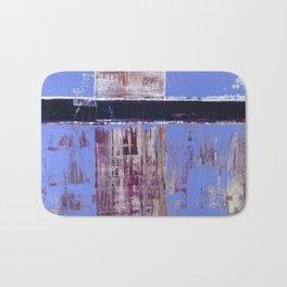 Chagrin Cornflower Blue Abstract Painting Modern Art Bath Mat
