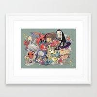 miyazaki Framed Art Prints featuring Hayao Miyazaki by Kensausage