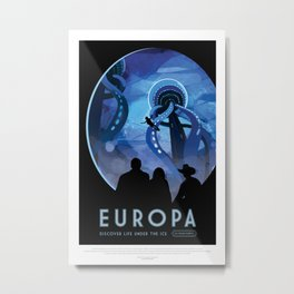 Europa - NASA Space Travel Poster Metal Print