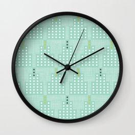 Art Deco Towers Aqua Wall Clock