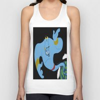 robin williams Tank Tops featuring Genie (tribute to Robin Williams) by ItalianRicanArt