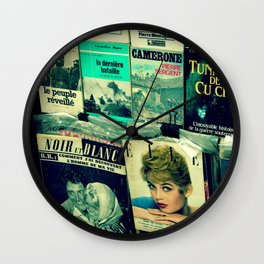 Brigitte Bardot in Paris by Lika Ramati Wall Clock