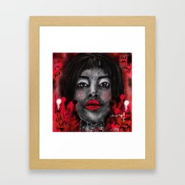 Chin-up!! Framed Art Print
