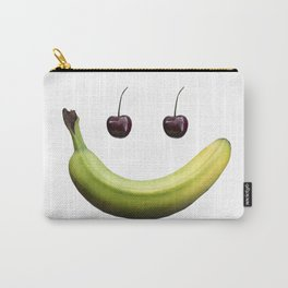 Funny real fruit smiley face Carry-All Pouch