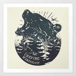 Craving wanderlust II Art Print