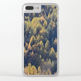 Beautiful autumn forest in mountain Clear iPhone Case