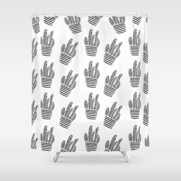 Just A Few Lines Shower Curtain