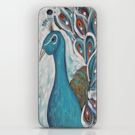 Blue Peacock with Blue iPhone Skin