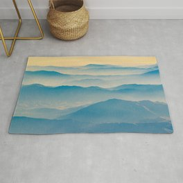 Chilean Andes Mountain Aerial View Rug