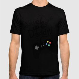 Leveled Up To Daddy Gamer Video Funny New Dad Gifts T-shirt