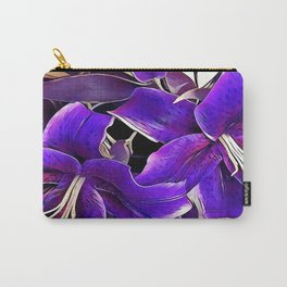 Purple lilies Carry-All Pouch