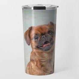 Drawing Dog breed Griffon Brabanson Travel Mug