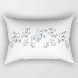 Polar bear population Rectangular Pillow