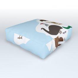 map of Australia. Echidna Platypus Emu Tasmanian devil Cockatoo Wombat crocodile kangaroo dingo Outdoor Floor Cushion