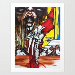 Battlefield Bull Art Print