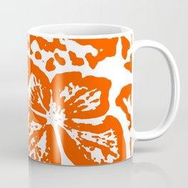 Red Linocut of Hydrangea Coffee Mug