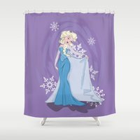 elsa Shower Curtains featuring Elsa by LarissaKathryn