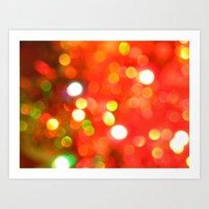 Bright lights. Art Print