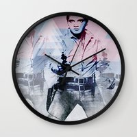 guns Wall Clocks featuring 228 GUNS by AMBIDEXTROUS™
